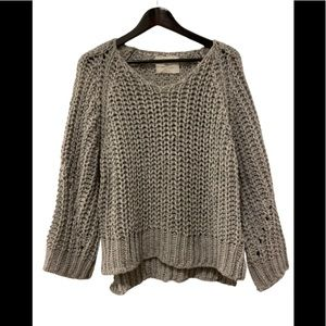 Golden Paper Grey Chunky Knit Sweater